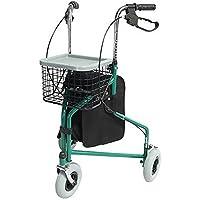 Mobiclinic Andador para Ancianos de 3 Ruedas | Rollator Plegable Ultraligero| Regulable en Altura |