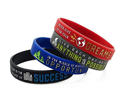 Zoom IMG-2 11thgear braccialetti motivazionali con scritta