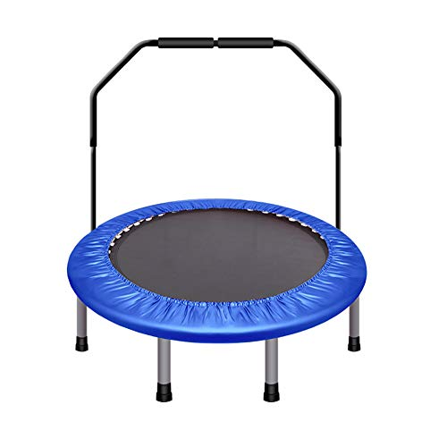 Homesave trampolino con manico a u regolabile in altezza 48 pollici,blue