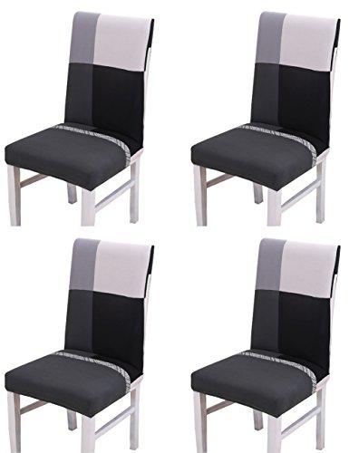 4×copertura della sedia rimovibile coprisedie con schienale lavabile stretch sedia da pranzo della copertura copertura slipcovers per matrimoni compleanni banquette