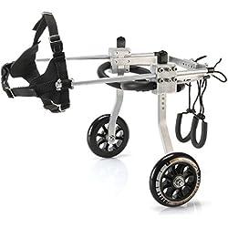 Anmas Sport Silla de rueda ajustable perros pequeños, peso de 5 a 20 lbs, rehabilitación de patas traseras, peso ligero