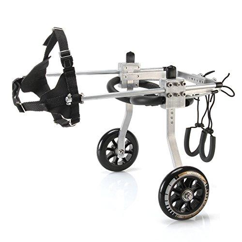 Anmas Sport Silla de rueda ajustable perros pequeños, peso de 5 a...