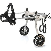 Anmas Sport Silla de rueda ajustable perros pequeños, peso de 5 a 20 lbs,