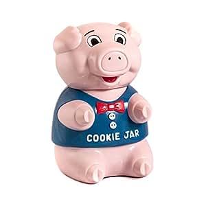 Outlook Design V8J0100300 Cookie Jar Boîte à biscuits sonore En forme de cochon