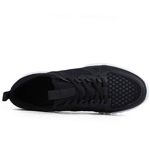 Uomo Scarpe da Ginnastica Corsa outdoor multisport Running Sneakers Nero