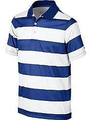 Nike Boys' Bold Stripe Polo - Polo manga corta para niño, color azul, talla XL
