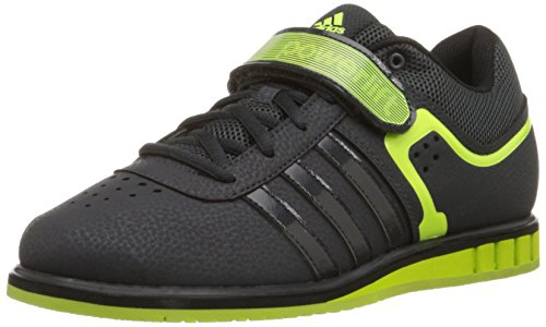 Adidas Performance Powerlift.2 entrenador de zapatos, Gris oscuro / solar amarillo / negro, 7,5 M co