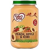Vache Et Porte Étape 2 Pot Pêche, Pomme Et Kiwi 200G - Paquet de 2