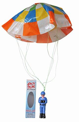 Paracaidista de Juguete Vintage Retro Paracaídas Deporte Extremo Miniatura Caída