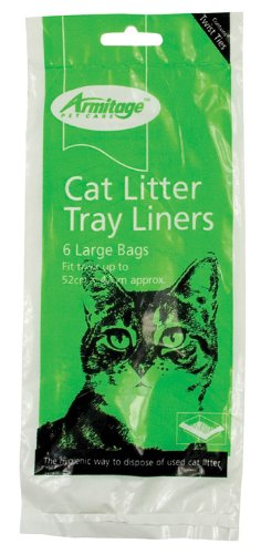 (Armitage Pet care) Cat Litter Tray Liners (Large) 6 Pack 1