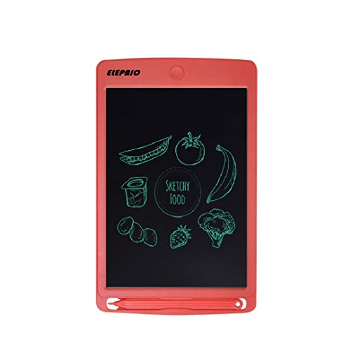 """Portable RuffPad E-Writer (Updated -2018) 8.5"""" inch LCD kid educational Writing Pad Paperless Child Study Kid Memo Digital Tablet Notepad Stylus Drawing Handwriting Board. Write notes, lists & make doodles without using paper or pen (Red)"""
