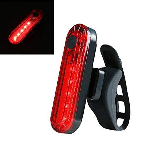laonBonnie Fahrrad-Rücklicht Outdoor-Reiten USB-Aufladung COB-Highlight Sicherheitswarnlicht Fahrradzubehör