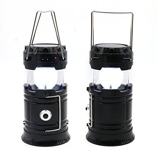 Bailongju solare led lanterna da campeggio, esterno portatile palmare torcia a led, luci di emergenza con batterie costruisce in telefon caricatore nero interruzioni di corrente luci della lampada (1)