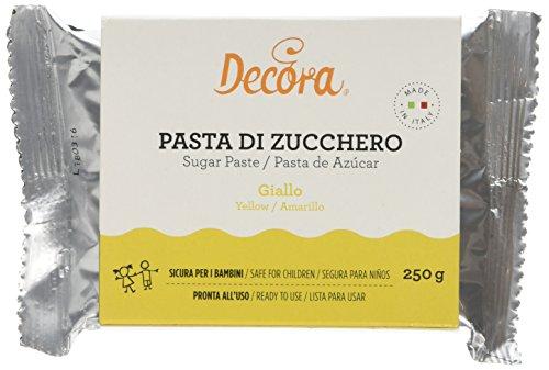 Decora Pasta Di Zucchero Giallo - Confezione Da 250 Grammi