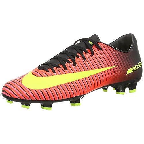 Nike Mercurial Vortex III FG, Chaussures de Football Homme, Multicolore (Total Rouge Crimson/Vert Volt/Black/Pink Blast), 42.5 EU