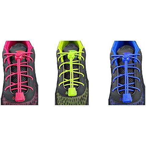 3pares fácil de llevar cordones para adulto y niños, Running Locklaces by Van +, LockLace-010304