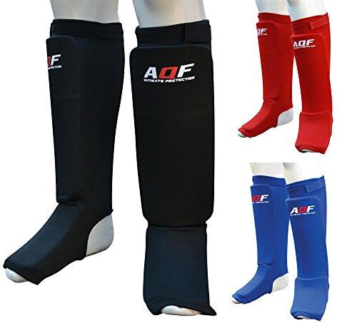 aqf-mma-shin-instep-foam-pad-support-boxing-leg-guards-foot-protective-gear-kickboxing-multi-colour-