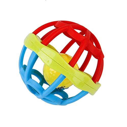 LEVEL GREAT Aushöhlen Round Pet Plastic Interactive Bell Ball Bunte Spielen Pet Kauen-Spielzeug