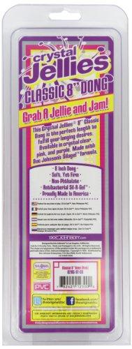 Doc Johnson Crystal Jellies 8 inch Classic Dildo - 2
