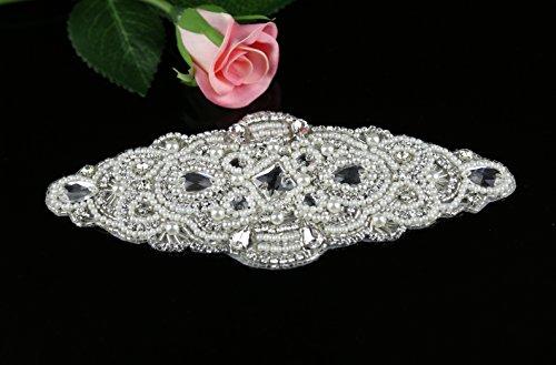queendream Applique Boutique diseño de adornos para fiestas, con para vestido de novia fina Rhinestone Applique Perla Cuentas Accesorios