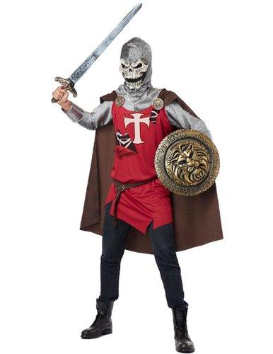 Skelett Ritter Kostüm Horror Halloween Karneval Verkleidung Erwachsene Herren