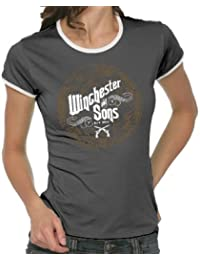 Touchlines Damen Winchester and Sons Girlie Ringer T-Shirt