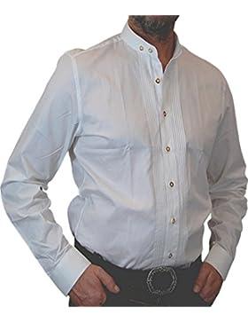 Almsach Trachtenhemd slimline mit Zierbiesen und Stehkragen Lars