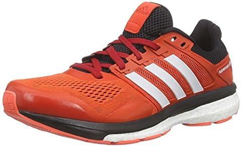 adidas Performance Herren Supernova Glide 8 Laufschuhe, Rot (Bold Orange/Ftwr White/Core Black), 40 2/3