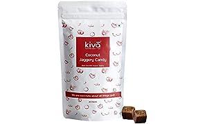 Kiva 100% Vegan Friendly Gluten Free No Preservatives Natural Organic Coconut Jaggery Candies, 20 x 8g-candies Per Pack