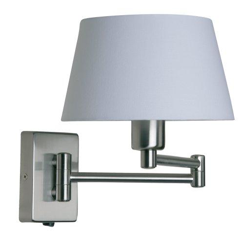 Oaks Lighting, Lampada da parete con braccio flessibile, paralume non (Chrome Finish Low Energy)