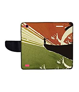 KolorEdge Printed Flip Cover For Gionee Elife E3 Multicolor - (45KeMLogo10119GioneeE3)