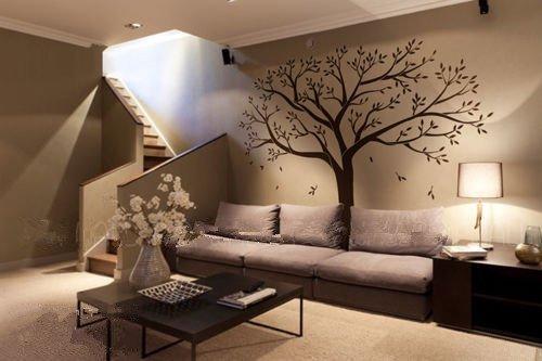 Grande albero vivai adesivi murali/decorazione da parete/decorazione murale-camera da letto per bambini