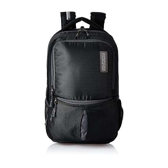 American Tourister 28 Ltrs Black Laptop Backpack (AMT TECH GEAR LAPTOP BP 01-BLK)