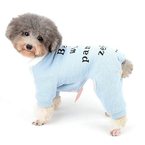 Ranphy Hundepullover, Pyjama für den Winter, für Chihuahua, Fleece-Futter, warmes Yorkie-Kostüm, für kleine Hunde und Katzen