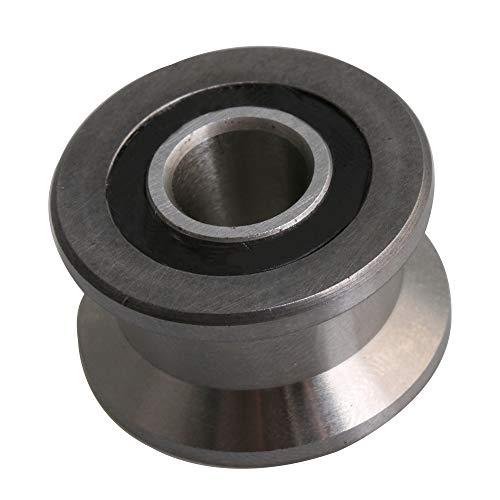 8mm ID Silber 440C Edelstahl Metall versiegelten Kugellagern Stahl Umlenkrolle Schiene Kugellager Riemenscheibe Tür Draht Track Zubehör(22,5x13,5mm) -