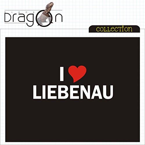 T-Shirt mit Städtenamen - i Love Liebenau - Herren - unisex Schwarz