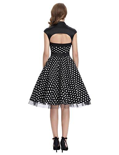 best service 3ccaf e1771 Lieferadresse Deutschland - Amazon Schweiz   damenkleider elegant festlich  polka dots kleid petticoat kleid XL BP031-1