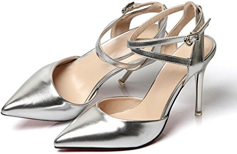 Kitzen Sandalias De Cristal De Las Mujeres del Tacón Alto Peep Toe Stilettos Zapatos De Las Señoras del Verano... -