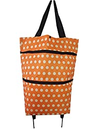 ROSENICE Shopping Bag With Wheels Collapsible Folding Bag Multi-Functional Shopping Trolley Bag