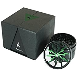 AFTER GROW Thorinder - Grinder per erba, 4 pezzi, 6 cm, colore verde