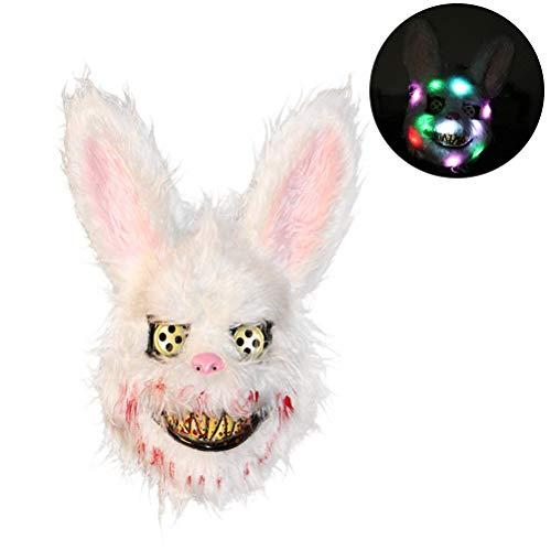 Einsgut Kaninchen Maske Plüsch Halloween Horror Maske Tier Hase Beängstigend Maske Plüsch Spielzeug Horror Killer Für Party-kostüm