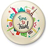 Alter Ego Time To Travel Badge With Safety-Pin Back