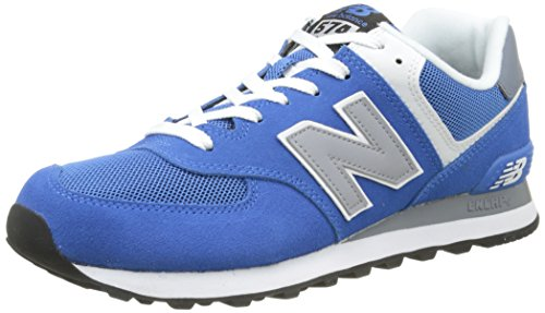 New Balance Herren Ml_wl574 Low-Top Azul / Gris Claro