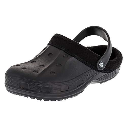 2Surf Gefütterte Herren Clogs Winter und Sommer Schuhe mit herausnehmbarem Futter M477sw Schwarz 43 EU