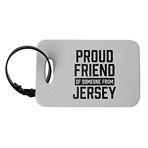 Luggage tag with Proud friend of someone from