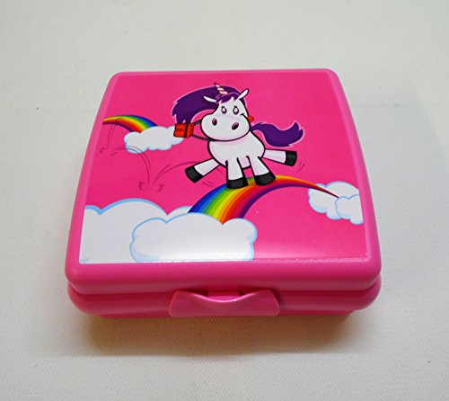 TUPPERWARE Sandwich-Box Brotbox Pausenbrotbehälter A126 Sandwichbox Einhorn pink