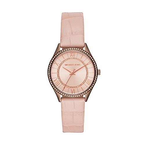 Michael Kors Damen Analog Quarz Uhr mit Leder Armband MK2722