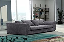 Logan 3 Seater Sofa Jumbo Cord - Grey