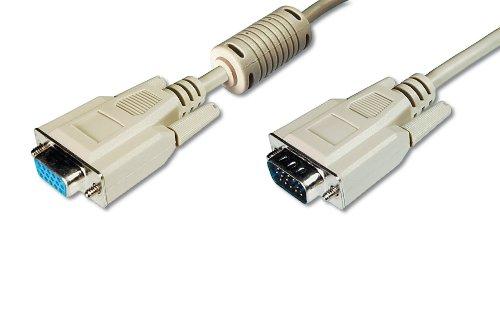 ASSMANN AK-310200-018-E VGA Monitor-Verlängerungskabel (HD15, Stecker auf Buchse, 1,8 m, 3Cf/4C)