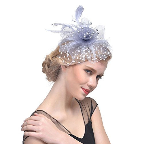 642251b804b4 Charming Big Flower Headband Netting Mesh Hair Band Cocktail Hat Tea ...